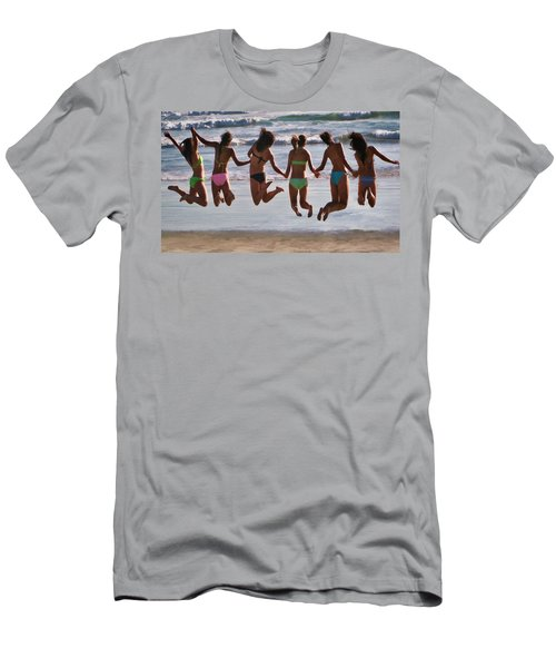 Just Jump Men's T-Shirt (Slim Fit) by Tammy Espino