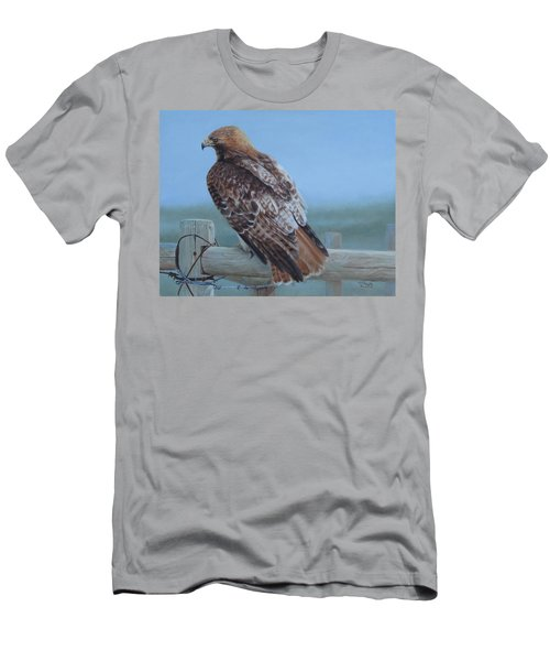 Men's T-Shirt (Athletic Fit) featuring the painting Kaiser's Hawk by Tammy Taylor