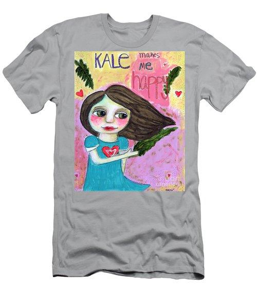 Kale Makes Me Happy Men's T-Shirt (Athletic Fit)