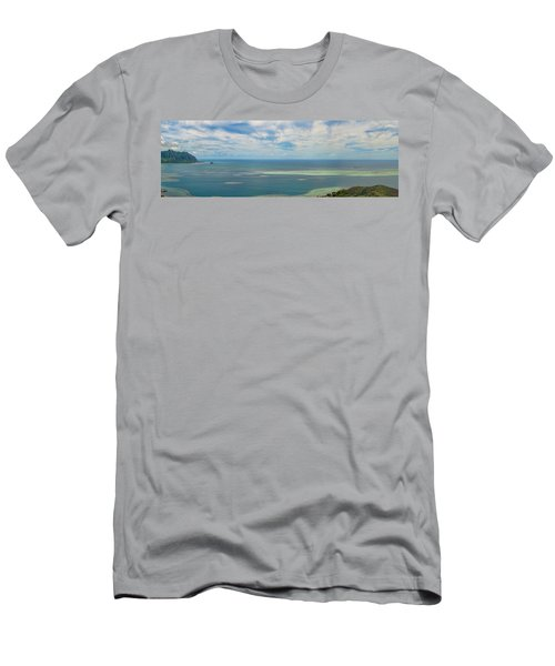 Kaneohe Sandbar Panorama Men's T-Shirt (Athletic Fit)