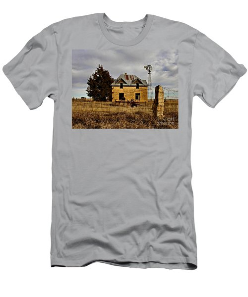 Men's T-Shirt (Slim Fit) featuring the photograph Kansas Castle 1 by Lynne Wright