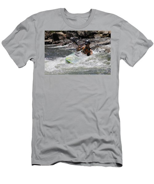 Kayaking In Golden Men's T-Shirt (Athletic Fit)