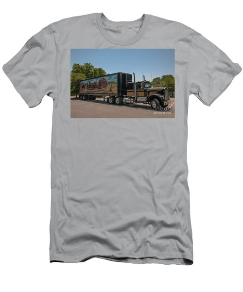 Keep Those Wheels A Truckin Men's T-Shirt (Athletic Fit)