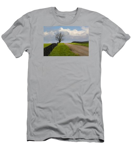 Kentucky Horse Farm Road Men's T-Shirt (Athletic Fit)