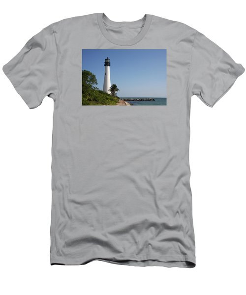 Key Biscayne Lighthouse Men's T-Shirt (Slim Fit) by Christiane Schulze Art And Photography