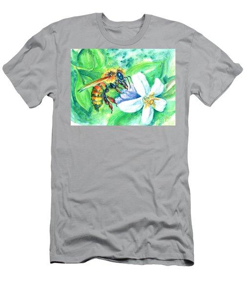 Key Lime Honeybee Men's T-Shirt (Athletic Fit)
