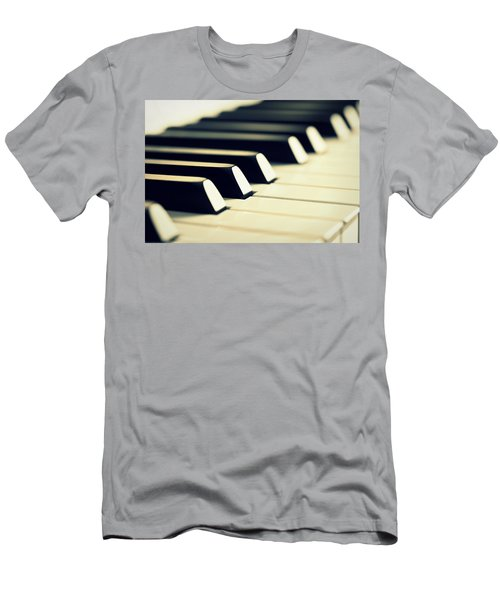 Keyboard Of A Piano Men's T-Shirt (Athletic Fit)