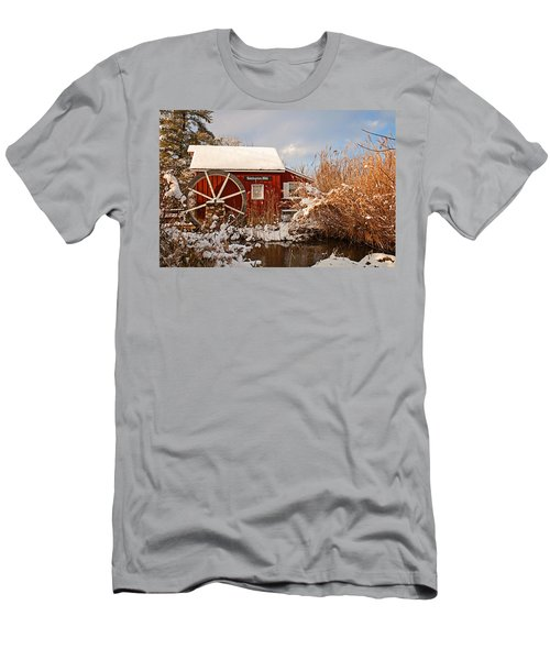 Kimberton Mill After Snow Men's T-Shirt (Athletic Fit)