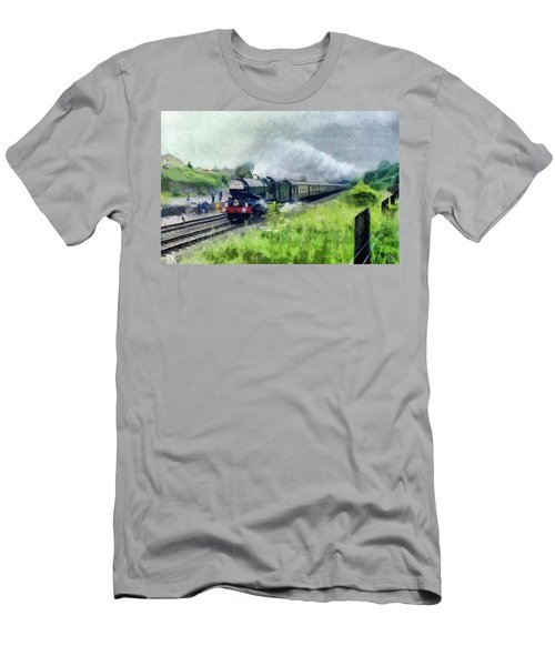 'king George V' Locomotive Men's T-Shirt (Athletic Fit)