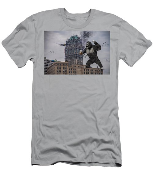 Men's T-Shirt (Slim Fit) featuring the photograph King Kong In Detroit At Wurlitzer by Nicholas  Grunas