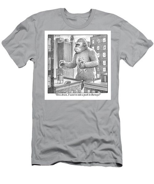 King Kong Stands In A Large City Men's T-Shirt (Athletic Fit)