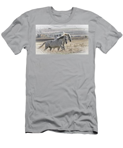 Men's T-Shirt (Slim Fit) featuring the photograph Knee Deep D3505 by Wes and Dotty Weber