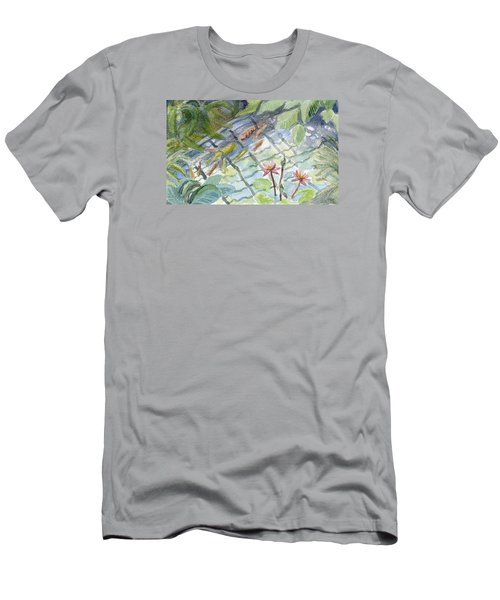 Koi Carp And Waterlilies. Men's T-Shirt (Athletic Fit)