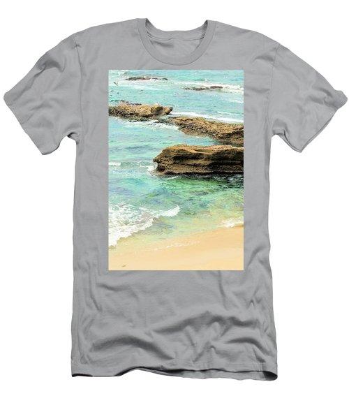 La Jolla Beach Rocks Men's T-Shirt (Athletic Fit)
