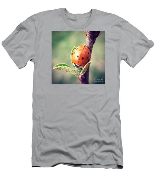 Men's T-Shirt (Slim Fit) featuring the photograph Ladybug  by Kerri Farley
