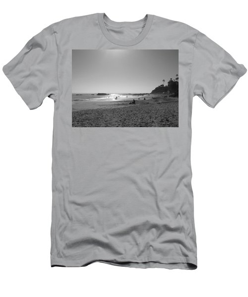 Laguna Sunset Reflection Men's T-Shirt (Slim Fit) by Connie Fox