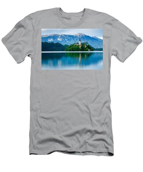 Lake Bled Island Church Men's T-Shirt (Athletic Fit)