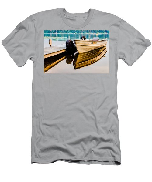 Lake Boat Reflection Men's T-Shirt (Athletic Fit)