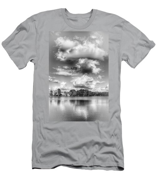 Men's T-Shirt (Athletic Fit) featuring the photograph Lake De Soto by Howard Salmon