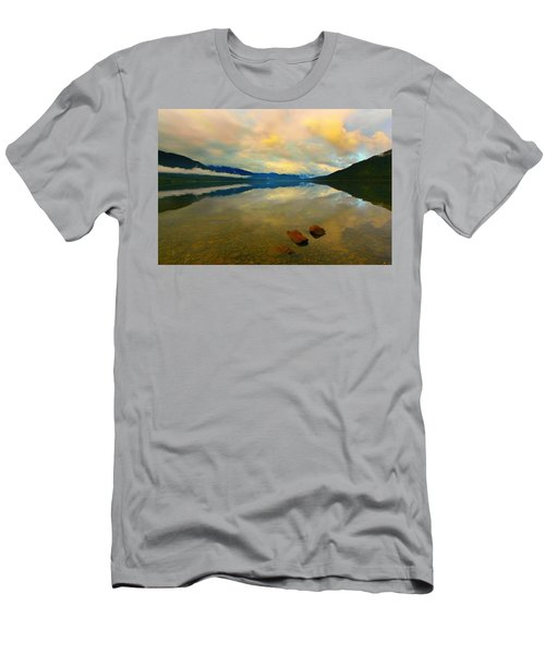Lake Kaniere New Zealand Men's T-Shirt (Slim Fit) by Amanda Stadther
