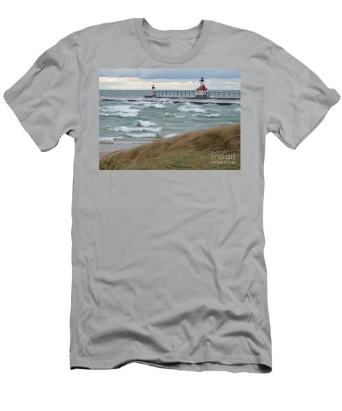 Lake Michigan Winds Men's T-Shirt (Slim Fit) by Ann Horn