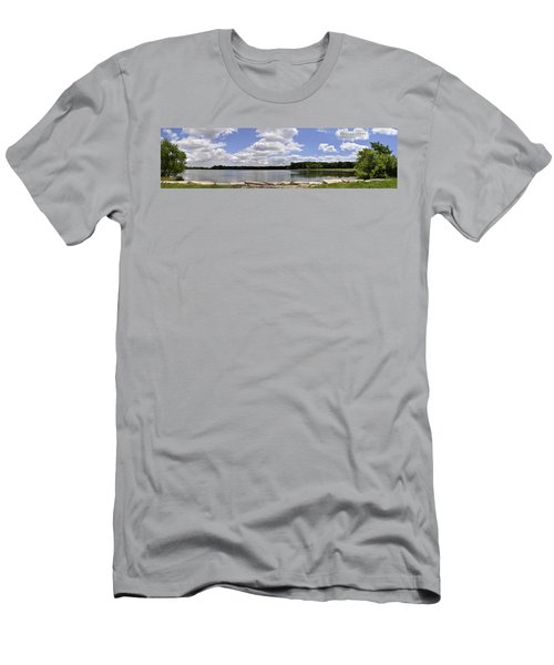 Men's T-Shirt (Slim Fit) featuring the photograph Lake Of Dreams by Verana Stark