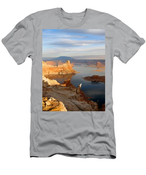 Lake Powell From Alstrum Pt 12 Men's T-Shirt (Slim Fit) by Jeff Brunton