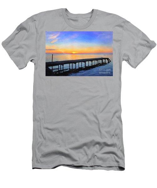 Lake Sunrise - Watercolor Men's T-Shirt (Athletic Fit)
