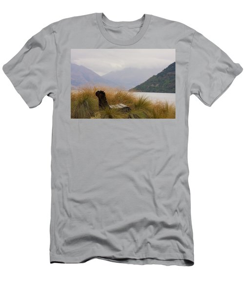 Lake Wakatipu Bench Men's T-Shirt (Athletic Fit)
