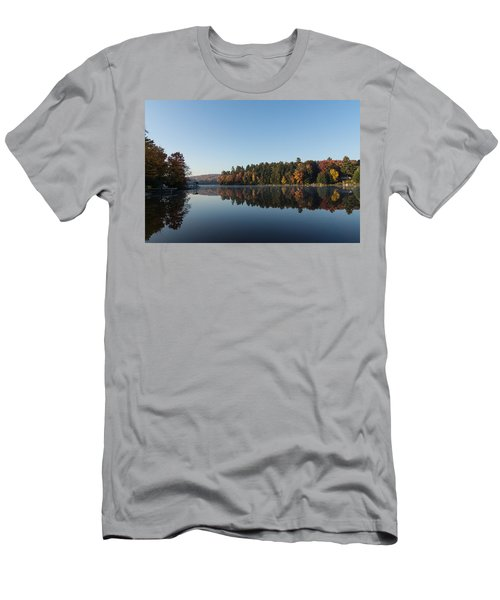 Lakeside Cottage Living - Peaceful Morning Mirror Men's T-Shirt (Athletic Fit)