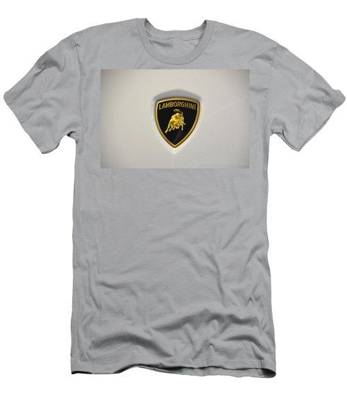Lamborghini Badge Men's T-Shirt (Slim Fit) by Mike Martin