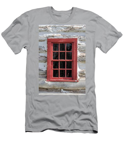 Landow Cabin Window Men's T-Shirt (Athletic Fit)