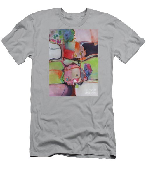 Men's T-Shirt (Slim Fit) featuring the painting Landscape by Michelle Abrams