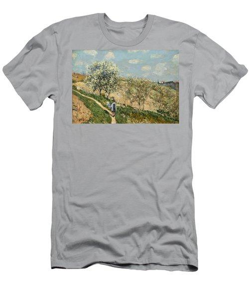 Landscape. Spring At Bougival Men's T-Shirt (Athletic Fit)
