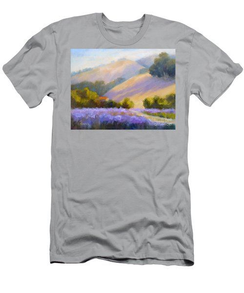 Late June Hills And Lavender Men's T-Shirt (Athletic Fit)