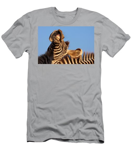 Men's T-Shirt (Slim Fit) featuring the photograph Laughing Zebra by Nick  Biemans