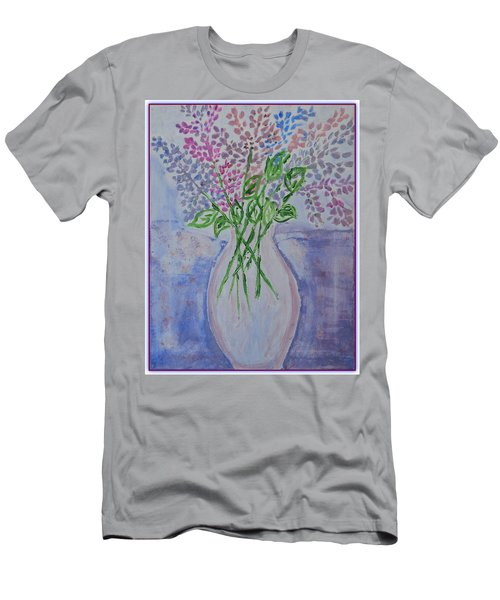 Lavendar  Flowers Men's T-Shirt (Athletic Fit)