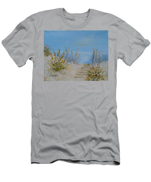 Men's T-Shirt (Slim Fit) featuring the painting Lbi Peace by Judith Rhue