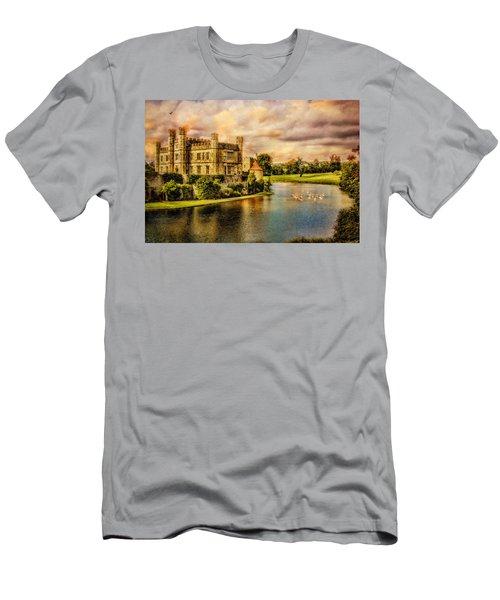 Leeds Castle Landscape Men's T-Shirt (Athletic Fit)