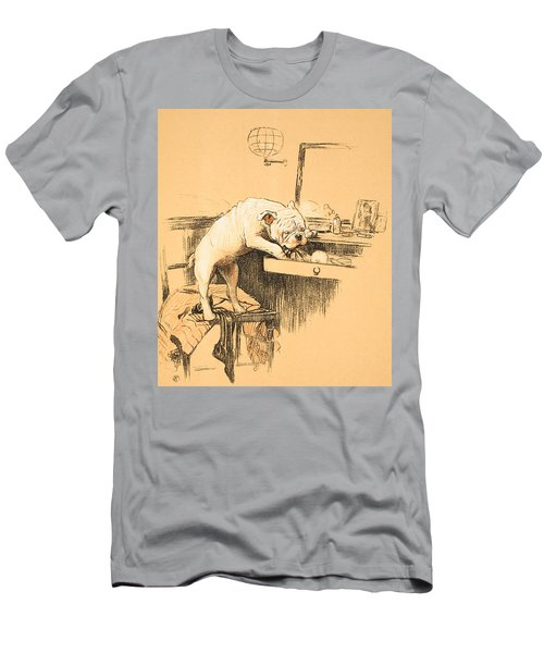 Left Alone In Her Dressing Room Men's T-Shirt (Athletic Fit)