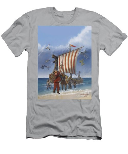 Men's T-Shirt (Slim Fit) featuring the painting Legendary Viking by Rob Corsetti
