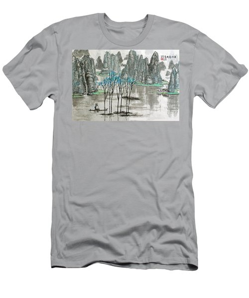 Men's T-Shirt (Slim Fit) featuring the photograph Li River In Spring by Yufeng Wang