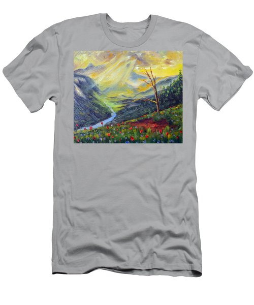Men's T-Shirt (Slim Fit) featuring the painting Life Force by Meaghan Troup