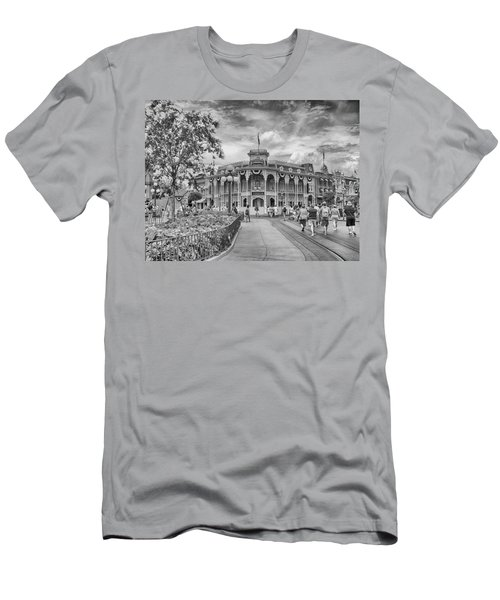 Men's T-Shirt (Slim Fit) featuring the photograph Life On Main Street by Howard Salmon