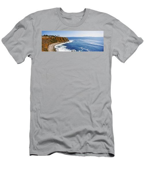 Lighthouse At A Coast, Point Vicente Men's T-Shirt (Athletic Fit)