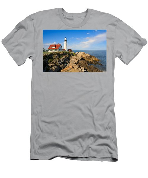Lighthouse In The Sun Men's T-Shirt (Athletic Fit)