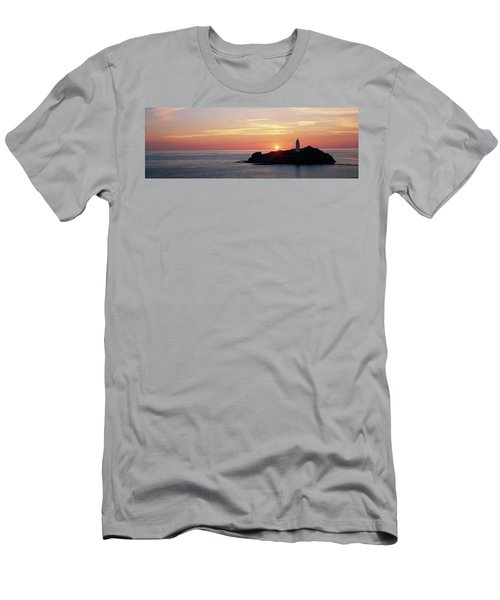 Lighthouse On An Island In Atlantic Men's T-Shirt (Athletic Fit)