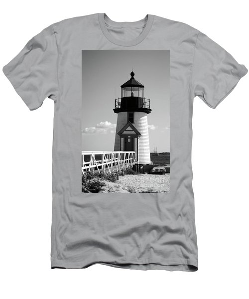 Lighthouse On Nantucket Bw Men's T-Shirt (Athletic Fit)