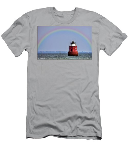 Lighthouse On The Bay Men's T-Shirt (Athletic Fit)