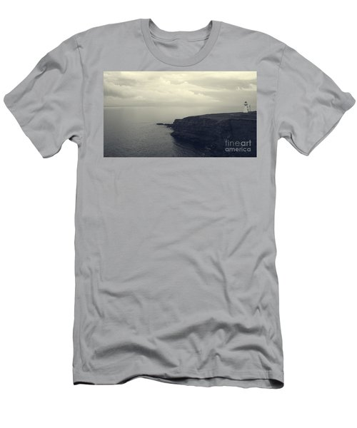 Lighthouse On The Cliff Men's T-Shirt (Athletic Fit)